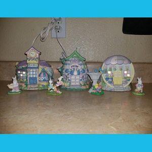 Easter Ceramic Houses